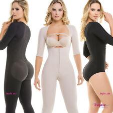 Fajate Fajas Colombianas Post Surgery Full Body Arm Shaper Powernet Girdle Slim