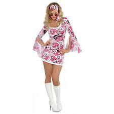 Go Go Girl Costume Adult 60s 70s Disco Halloween Fancy Dress