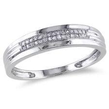 Amour 10k White Gold 1/10 Ct TDW Diamond Anniversary Ring G-H I2-I3