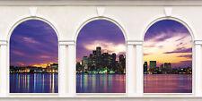 Sticker trompe l'oeil 3 Arches New York