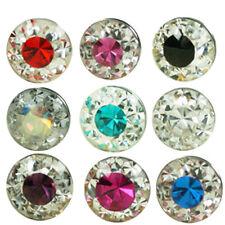 1,6mm Epossidica Cristallo Piercing Sfera Avvitabile 2 colori Trasparente