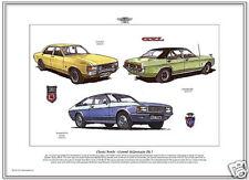 FORD CONSUL & GRANADA MK1 - Fine Art Print A3 size - Consul GT GXL & Ghia Coupe