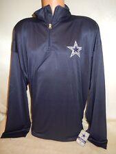 """9821-2 DALLAS COWBOYS """"Plus Size"""" Authentic Long Sleeve  DRI FIT Shirt BLUE"""