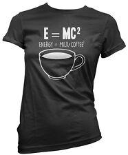 E = MC2 énergie = lait x café squared t-shirt femme