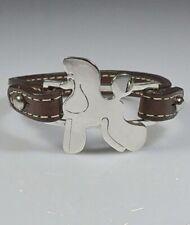 Bracciale in argento con sagoma di cane razza Barbone puppy e cinturino