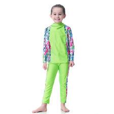 IsIamic Kids Girls 2PCS Swimwear Full Cover Swimsuit Beachwear Bathing Suit New