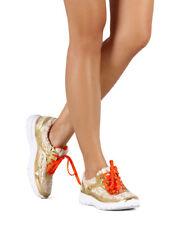 New Women DbDk Zephy-1 Mixed Media Metallic Tweed Lace Up Fashion Sneaker