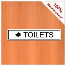 Toilettes Panneau de Porte avec Flèche Gauche 9430