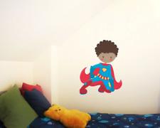 Superheld Clark Wandtattoo Wandaufkleber Kinderzimmer  5 Größen