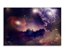 Wandbild Weltall Weltraum Space Galaxie mit kosmischem Staub auf Leinwand