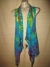 Tie Dye BOHO stretch knit open vest top (you choose color) best 10-18