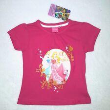 DISNEY t-shirt PRINCESSES 2-3 / 4-5 ou 6-7 ans rose manches courtes NEUF
