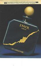 PUBLICITE ADVERTISING  1981  TED LAPIDUS le parfum légèer & aérien ENVOLi