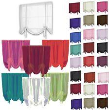 """Plain Voile Tie Blinds Net Curtains & Slot Top Voile Panels 55"""" Wide x 55"""" Drop"""
