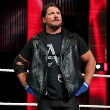 AJ Styles WWE Crocodile Faux Leather Vest High Quality