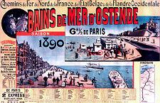Affiche chemin de fer Nord et Belge - Ostende