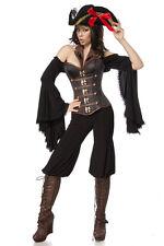 Costume PIRATA SEXY taglia S,M,L,XL,2XL camicia+cappello+pantaloni+corsetto