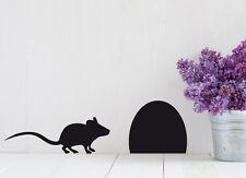 Maus+Mäuseloch Kinderzimmer Flur Wohnzimmer Küche Deko Wandaufkleber WandTattoo