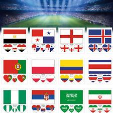 Mini Fans 32 Länder Nationalflagge Aufkleber Tattoos für WM 2018 Russland