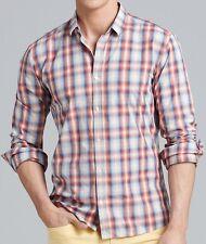 NWT HUGO (Red Label) by Hugo Boss Slim Fit Cotton Ombré Check Sport Shirt Sz 2XL