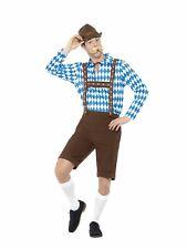 Oktoberfest Bavarian Beer Man Brown Short Lederhosen Costume