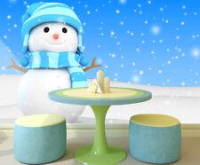 3D Weiß Schneemann 067 Fototapeten Wandbild Bild Tapete Familie Kinder