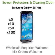 Samsung Galaxy S5 Mini Displayschutzfolien und Reinigungstuch Großhandel Restposten