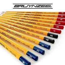36 x BRUYNZEEL alta qualità esagonale burotek Matite - 3 x scatola di 12 - 4h a 6b