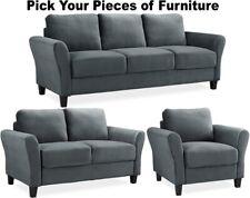 Gray Microfiber Sofa Sets for sale | eBay