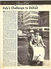 Lambretta   Article Reprint From Business Week  September 1956