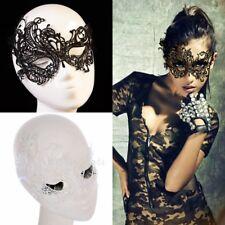 Veneciano Mascarilla Máscara de Pestañas Carnaval Encaje Encaje Máscara B