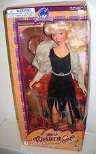 """#4558 NRFB Vintage Wal-Mart Stores Western Styles Teen Western Gal 14"""" Doll"""