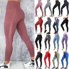 Women Sport Pants High Waist Yoga Fitness Leggings Running Workout Gym Trousers