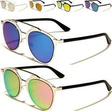 Nuevas Gafas de sol Damas Hombre Vintage Espejo Plano Ojo De Gato Diseñador Retro Steampunk