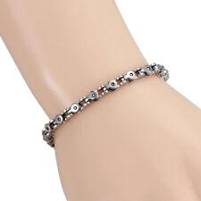 Chain Link Wrist Bracelets Biker Bangle Fashion Stainless Steel Silver Men Women