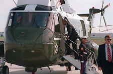 South African President Nelson Mandela boards Marine One 1994 Photo Print