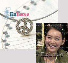 Korean drama My Girlfriend is Nine-Tailed Fox Gumiho mini CZ Peace Sign Necklace