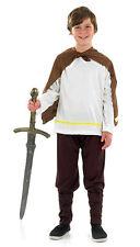 Garçons Enfants Viking Saxon Warrior Costume Déguisement 4-12 Ans Neuf