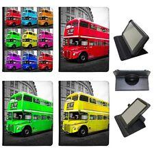 London Double Decker Bus Universal Folio Leather Case For Archos Tablets