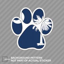 South Carolina State Shaped Paw Print Sticker Dog Cat Pet Puppy