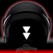 2 adesivi TRIANGOLI DOPPI RIFLETTENTI PVC casco moto stickers reflective HELMETS