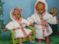 Heless Albornoz para Muñecas,Albornoz de muñeca,3 Tamaños, 20-45 cm, esponjoso