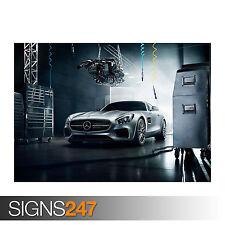 2016 MERCEDES BENZ AMG GTS (0019) Car Poster - Poster Print Art A0 A1 A2 A3 A4