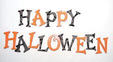 "Halloween Orange & Black Glitter Chipboard Alphabet Letter 64 pcs 1.5"" stickers"