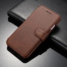 Luxus Echt Leder Hülle Etui Flip Schutz Case für iPhone 6s 7 8 Plus Samsung
