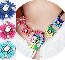 Statement Collar Blogger collar Elegante Choker COLORES de colores Flores NUEVO