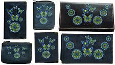 Porte Chequier ou compagnon ou porte monnaie ou porte carte grise Papillon vert