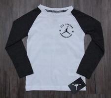 640711d2e945 Air Jordan Boy Long Sleeve T-Shirt ~ Charcoal Gray   White ~ Jumpman ~