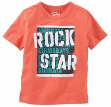 "OshKosh B'gosh Boy's ""Rock Star"" Orange Tee Shirt (MSRP: $12-$16"