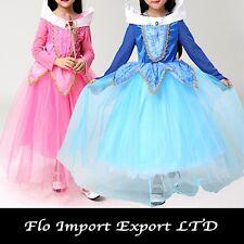 Aurora Vestito Bambina Carnevale Maschera Rosa e Blu Girl Cosplay Costume AUR004